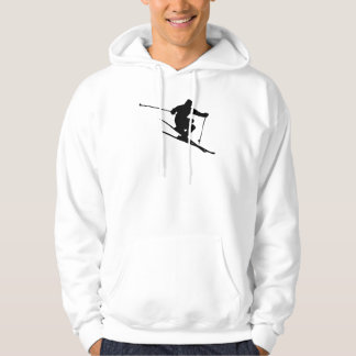 Skier Silhouette Hoodie
