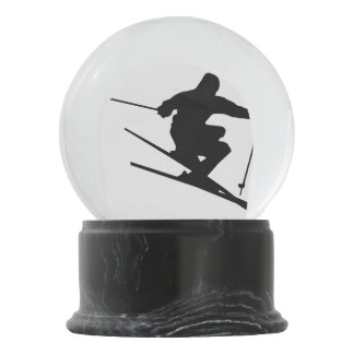 Skier Snow Globe