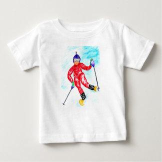 Skier Sport Illustration Baby T-Shirt