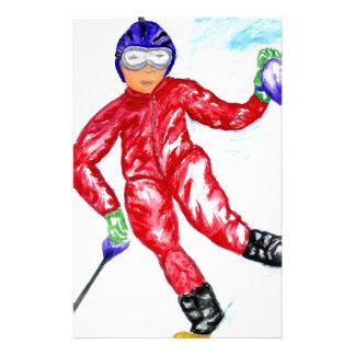 Skier Sport Illustration Stationery