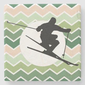 Skier Stone Coaster