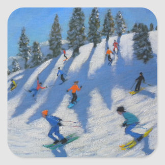 Skiers Lofer 2010 Square Sticker