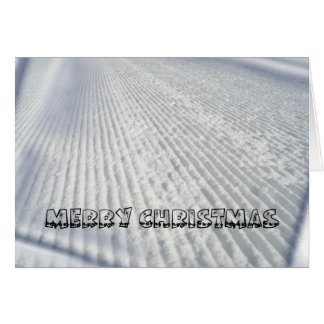 Skiers / Snowboarders Christmas Card