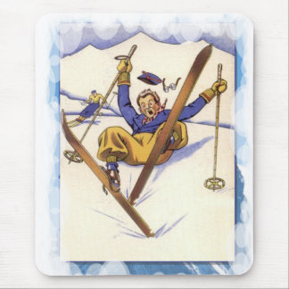 Skiing -A bit of a tumble Mouse Pad