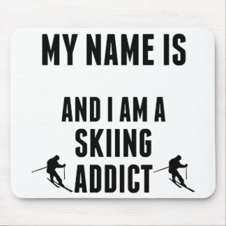 Skiing Addict Mouse Pads