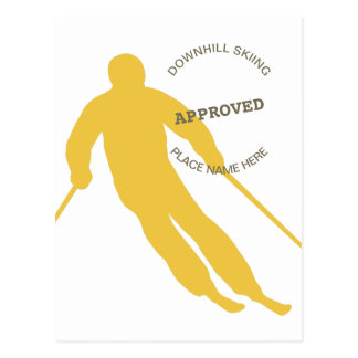 Skiing Approved Postcard