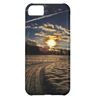 skiing at sunset cover for iPhone 5C