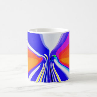 Skiing at sunset coffee mug
