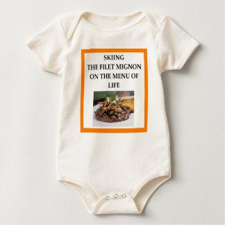 SKIING BABY BODYSUIT