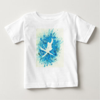 Skiing baby T-shirt