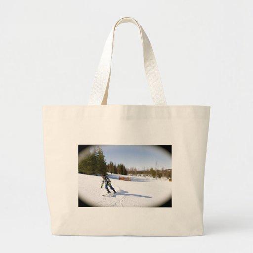 skiing tote bag
