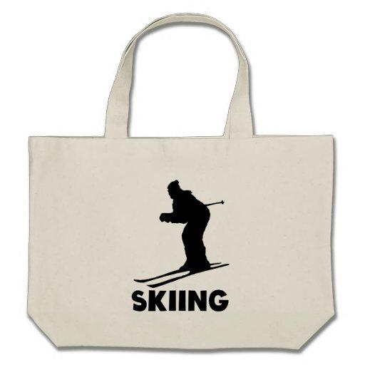 Skiing Tote Bags