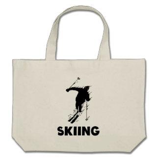 Skiing Canvas Bag