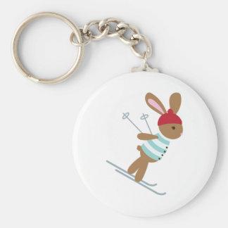 Skiing Bunny Key Ring
