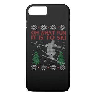 SKIING CHRISTMAS iPhone 7 PLUS CASE
