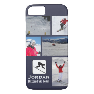 Skiing Club Ski Team Skier Custom Photo Collage iPhone 7 Case