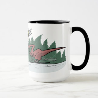 Skiing Dinosaurs Mug
