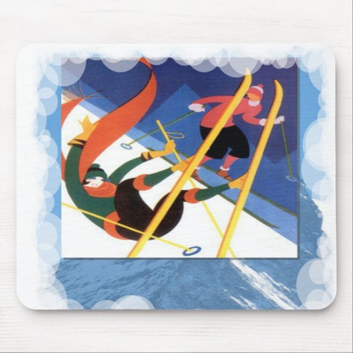 Skiing -Falling is part of the fun Mousepads
