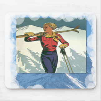 Skiing -Fashion on the piste Mouse Pads