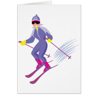 Skiing Greeting Cards