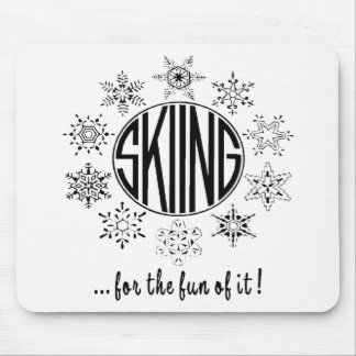 Skiing is Fun - Mouse Pad