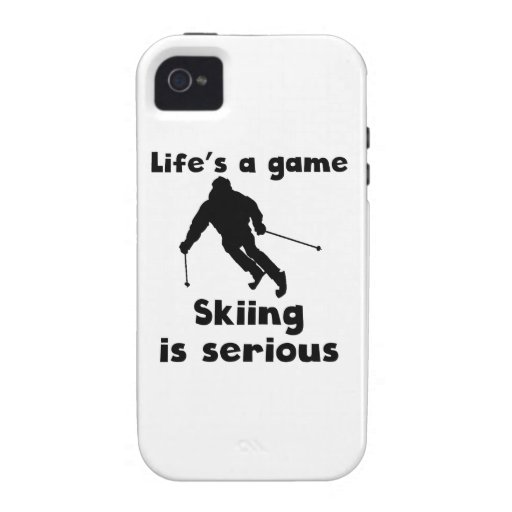 Skiing Is Serious Case-Mate iPhone 4 Covers