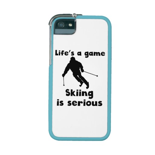 Skiing Is Serious iPhone 5 Case