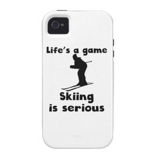 Skiing Is Serious Vibe iPhone 4 Case