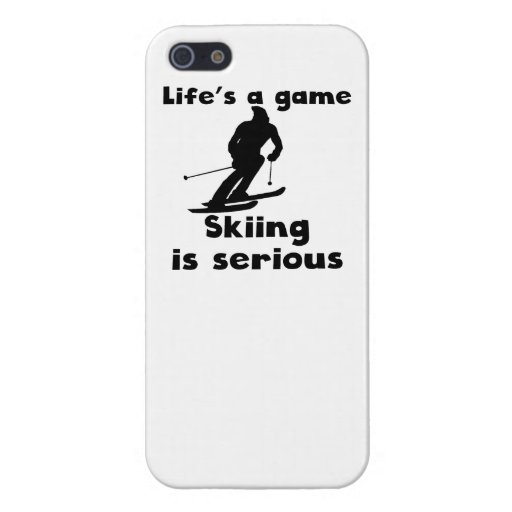 Skiing Is Serious iPhone 5/5S Cases