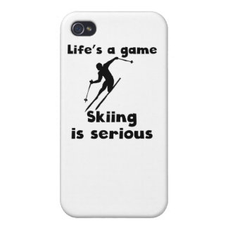 Skiing Is Serious Covers For iPhone 4