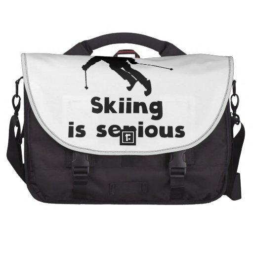 Skiing Is Serious Laptop Computer Bag