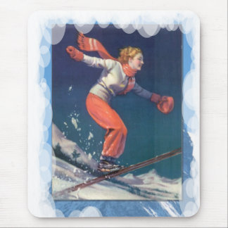 Skiing -JUmping over the humps Mouse Pad