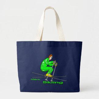 Skiing Man Canvas Bag