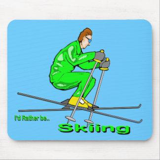 Skiing Man Mousepads