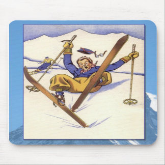 Skiing -Mishap on the slopes Mousepads