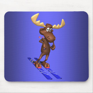 Skiing Moosepad Mouse Pad