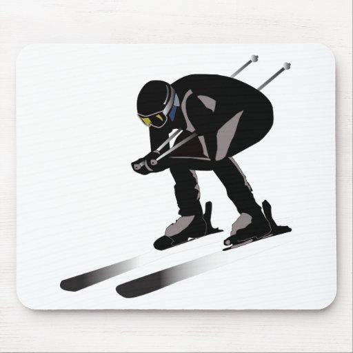 Skiing Mousepads