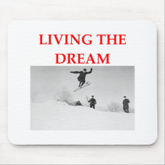 skiing mouse pads