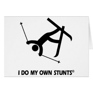 Skiing My Own Stunts Greeting Card