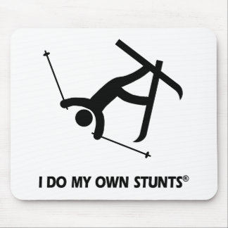 Skiing My Own Stunts Mouse Pad