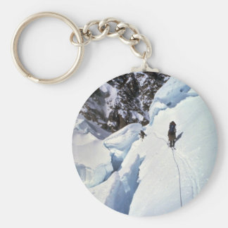 Skiing over Kahiltna Pass Winter Key Ring
