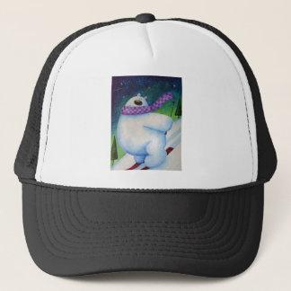 Skiing Polar Bear Trucker Hat