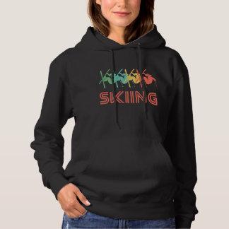 Skiing Retro Pop Art Hoodie
