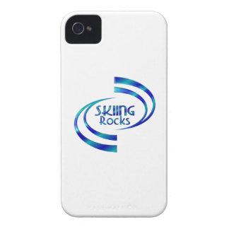 Skiing Rocks iPhone 4 Case