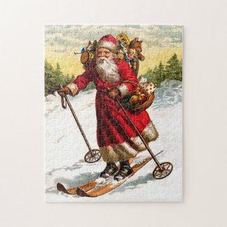Skiing Santa Claus Jigsaw Puzzle