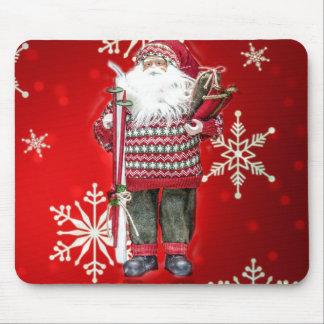 Skiing Santa Mouse Pads