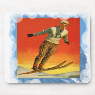 Skiing -Ski jumper in competition Mouse Pads