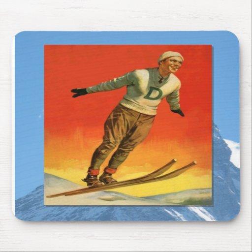 Skiing -Ski jumper Mousepads