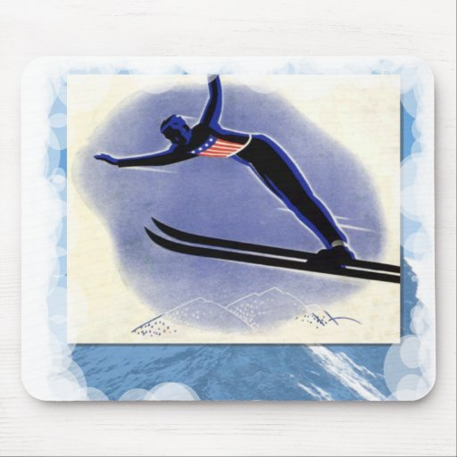 Skiing -Ski jumping competition Mousepad