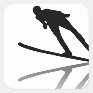 skiing ski resort ski korea ski cartoon water ski square sticker